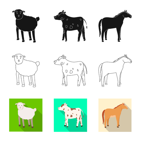 Isolated object of breeding and kitchen  icon. Set of breeding and organic  vector icon for stock. Stock Vector - 122955569