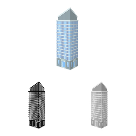 Isolated object of skyscraper and office sign. Set of skyscraper and department vector icon for stock.