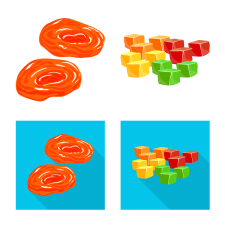 Vector illustration of food  and raw  icon. Collection of food  and nature   vector icon for stock.
