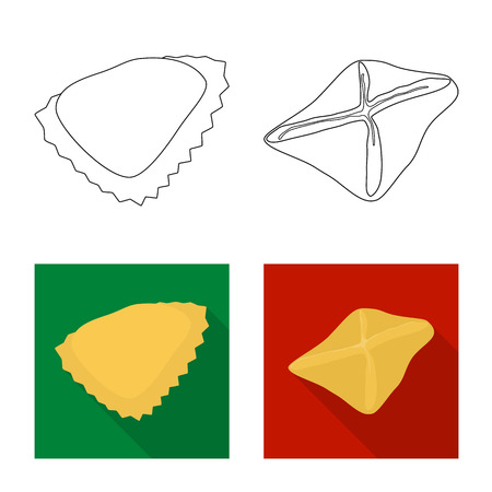 Vector design of products  and cooking. Collection of products  and appetizer vector icon for stock. Stock Vector - 122957166