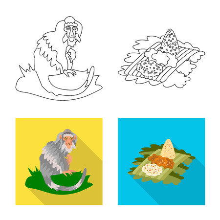 Vector illustration of  and travel. Collection of  and traditional stock symbol for web.