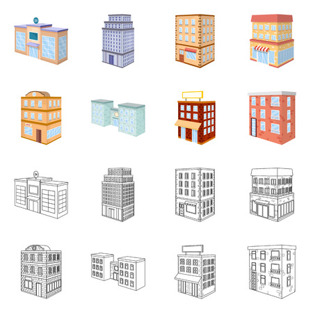 Vector design of construction and building icon. Collection of construction and estate stock vector illustration.