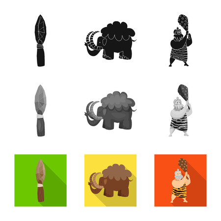 Vector illustration of evolution  and prehistory icon. Collection of evolution  and development  vector icon for stock.