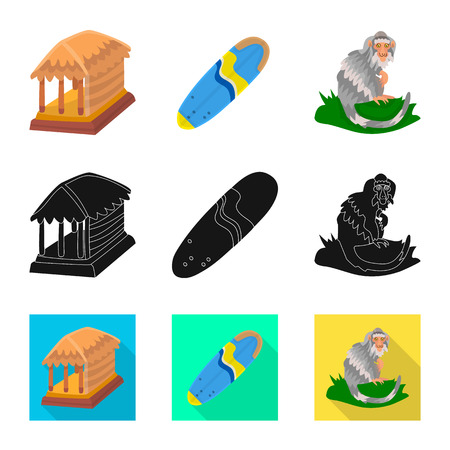 Isolated object of and travel. Collection of  and traditional stock vector illustration.