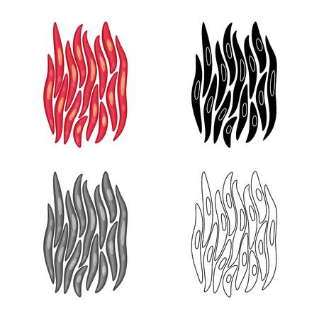 Vector illustration of fiber and muscular sign. Set of fiber and body stock vector illustration. Vector Illustration