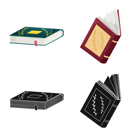 Vector design of training and cover icon. Set of training and bookstore  stock vector illustration. Иллюстрация
