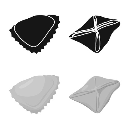 Vector illustration of products  and cooking icon. Collection of products  and appetizer vector icon for stock. Stock Vector - 123044407