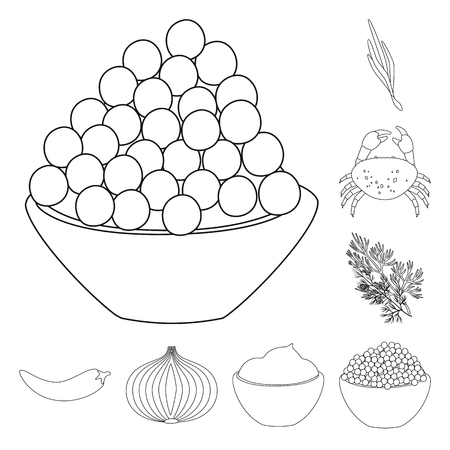 Isolated object of seasonin and ingredient  icon. Set of seasonin and aroma stock symbol for web.