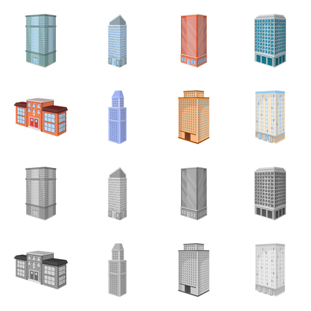 Vector illustration of construction and building symbol. Collection of construction and estate stock symbol for web.