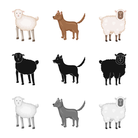 Vector design of breeding and kitchen  symbol. Set of breeding and organic  vector icon for stock. Stock Illustratie