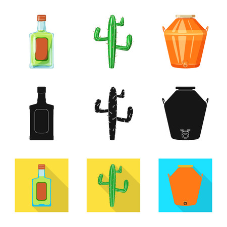 Vector design of cafe and Latin. Collection of cafe and national vector icon for stock. Illustration