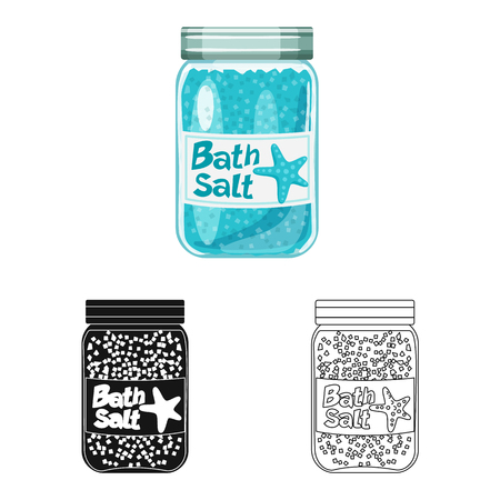 Vector design of bottle  and salty symbol. Set of bottle  and spa  vector icon for stock.