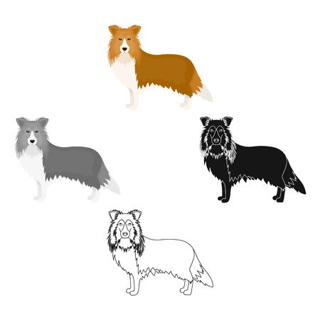Laika single icon in cartoon,black style.Laika, vector symbol stock illustration web.