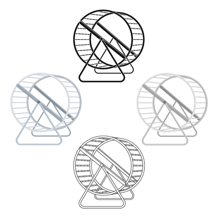 Wheel for rodents.Pet shop single icon in cartoon,black style vector symbol stock illustration web.