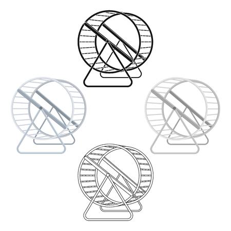 Wheel for rodents.Pet shop single icon in cartoon,black style vector symbol stock illustration web. Standard-Bild - 123471787