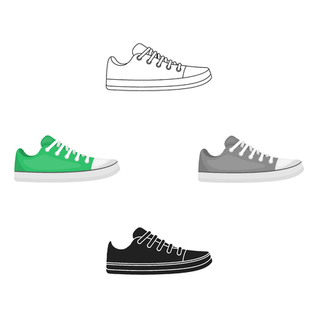 Gumshoes icon in cartoon,black style isolated on white background. Shoes symbol stock vector illustration.