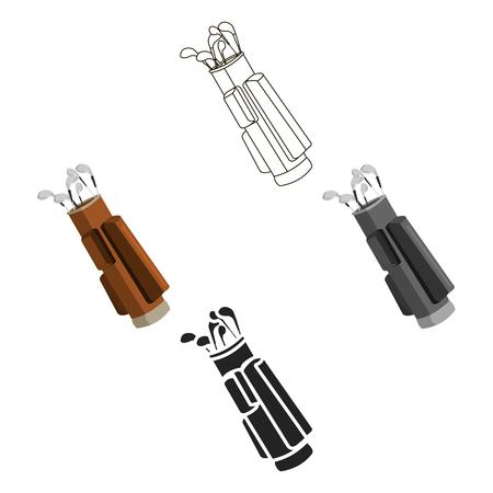 Caricature d'icône de golf, noir. Icône de sport unique du grand dessin animé de remise en forme, sain, d'entraînement, noir.