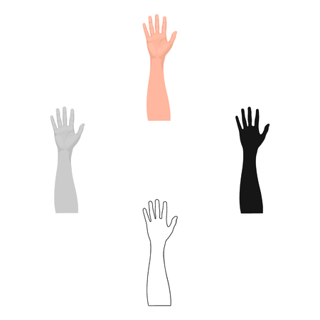 Gesture single icon in cartoon,black style.Gesture vector symbol stock illustration web. Ilustração