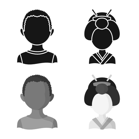 Vector illustration of imitator and resident icon. Set of imitator and culture stock vector illustration.