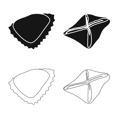 Vector illustration of products  and cooking icon. Collection of products  and appetizer vector icon for stock. Illustration