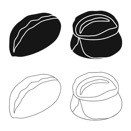 Isolated object of products  and cooking symbol. Collection of products  and appetizer vector icon for stock.