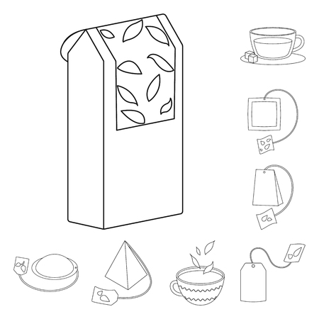 Isolated object of food and natural  icon. Set of food and black  vector icon for stock.