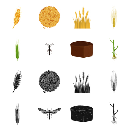 Vector illustration of agriculture and farming icon. Collection of agriculture and plant  vector icon for stock. Ilustração