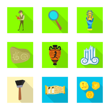Vector illustration of story and items icon. Collection of story and attributes  stock vector illustration.