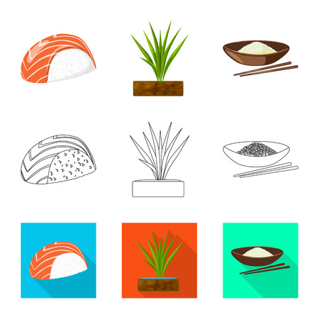 Vector design of crop and ecological symbol. Collection of crop and cooking stock symbol for web.