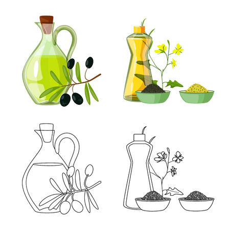 Isolated object of healthy  and vegetable  symbol. Collection of healthy  and agriculture stock vector illustration.