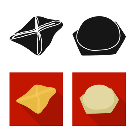 Vector design of products  and cooking icon. Set of products  and appetizer stock symbol for web. Stock Vector - 123537328