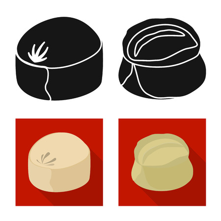 Vector illustration of products  and cooking icon. Set of products  and appetizer stock symbol for web. Reklamní fotografie - 123537551