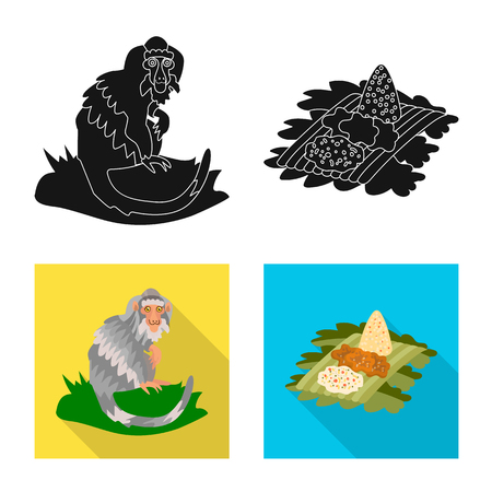 Vector design of  and travel symbol. Collection of  and traditional vector icon for stock. Illustration