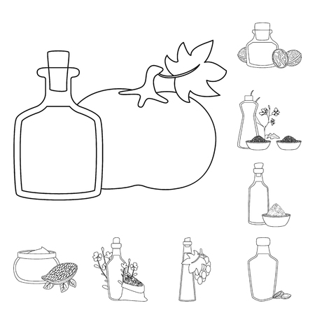 Vector illustration of healthy and vegetable. Collection of healthy and organics vector icon for stock.