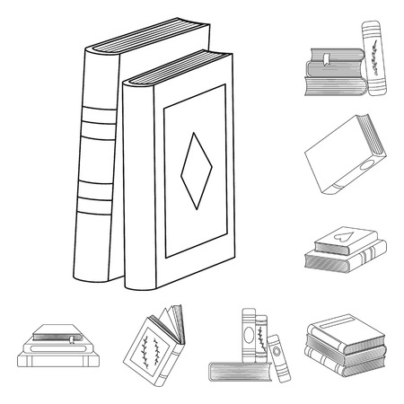 Vector illustration of study  and literature  icon. Collection of study  and source stock symbol for web.
