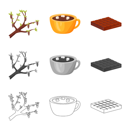 Isolated object of food and yummy symbol. Set of food and brown   vector icon for stock. Standard-Bild - 123580623