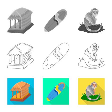 Vector illustration of  and travel symbol. Set of  and traditional stock symbol for web. Illustration