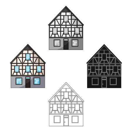 House single icon in cartoon,black style.House vector symbol stock illustration web.