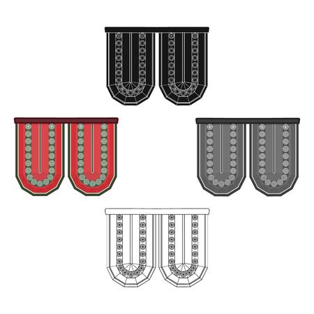 Cornice single icon in cartoon,black style.Cornice, vector symbol stock illustration web. Иллюстрация