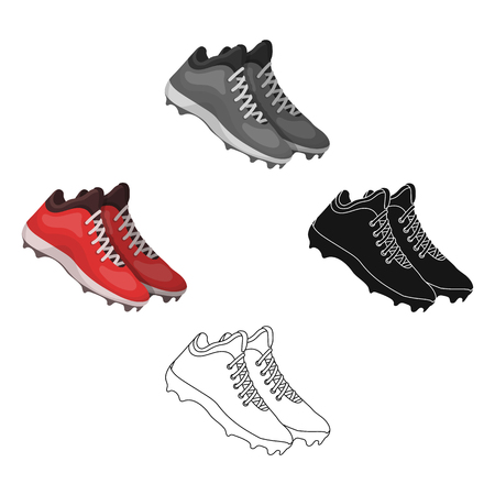 Baseball Sneakers. Baseball single icon in cartoon,black style vector symbol stock illustration web.