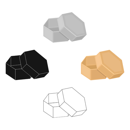 Box, packing, paper, and other web icon in cartoon,black style.Shell, framework, case, icons in set collection.