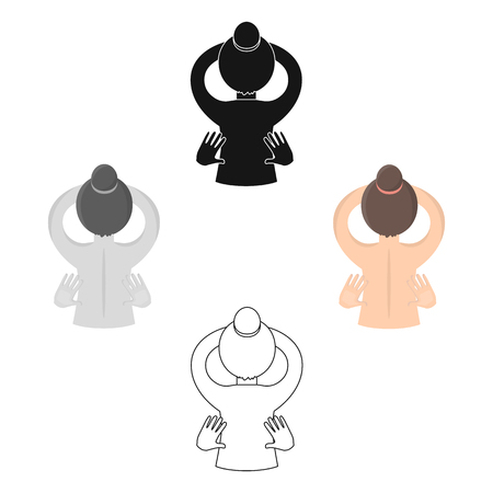 Massage icon of vector illustration for web and mobile Illustration