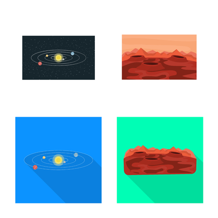 Vector illustration of astronomy and technology symbol. Collection of astronomy and sky stock vector illustration.