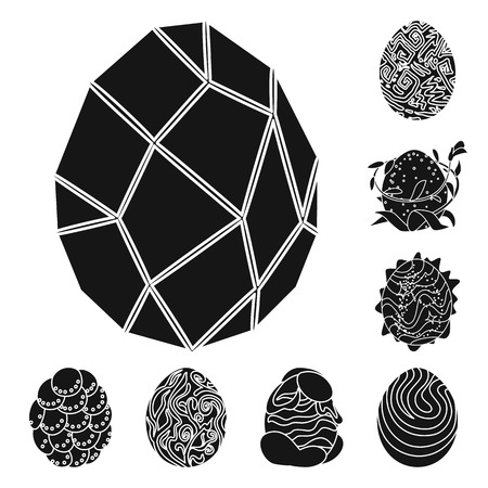 Vector illustration of fantastic and cute logo. Set of fantastic and magic stock vector illustration.