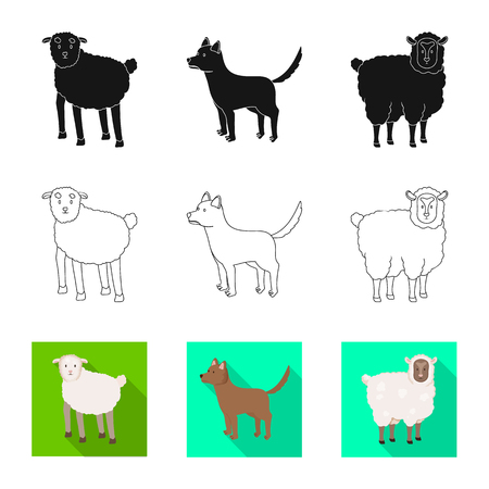 Vector design of breeding and kitchen  symbol. Set of breeding and organic  vector icon for stock. Illustration