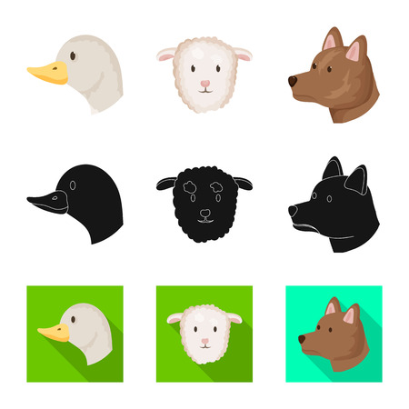 Vector illustration of agriculture and breeding icon. Collection of agriculture and organic stock vector illustration.