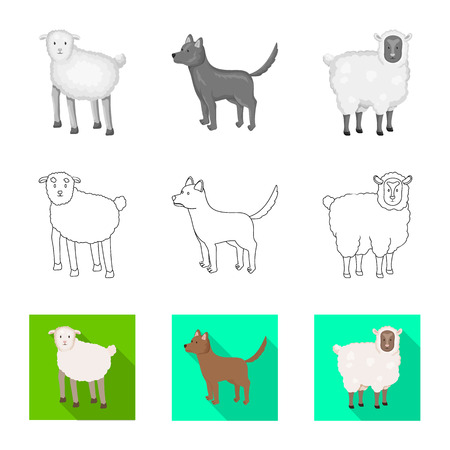 Vector design of breeding and kitchen  icon. Set of breeding and organic  stock symbol for web.