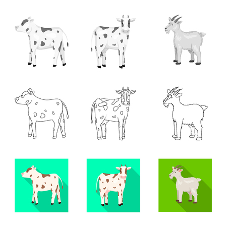 Vector illustration of breeding and kitchen  icon. Collection of breeding and organic  stock symbol for web. 矢量图像