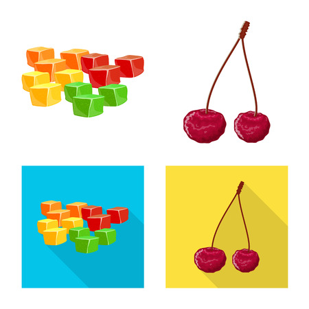 Vector design of food  and raw  symbol. Set of food  and nature   stock symbol for web.