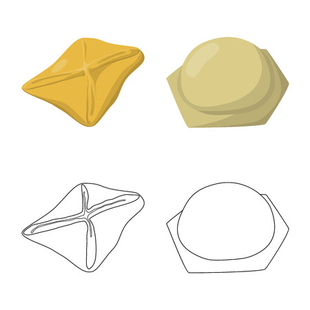 Vector illustration of products  and cooking icon. Set of products  and appetizer vector icon for stock. Stock Vector - 123473364